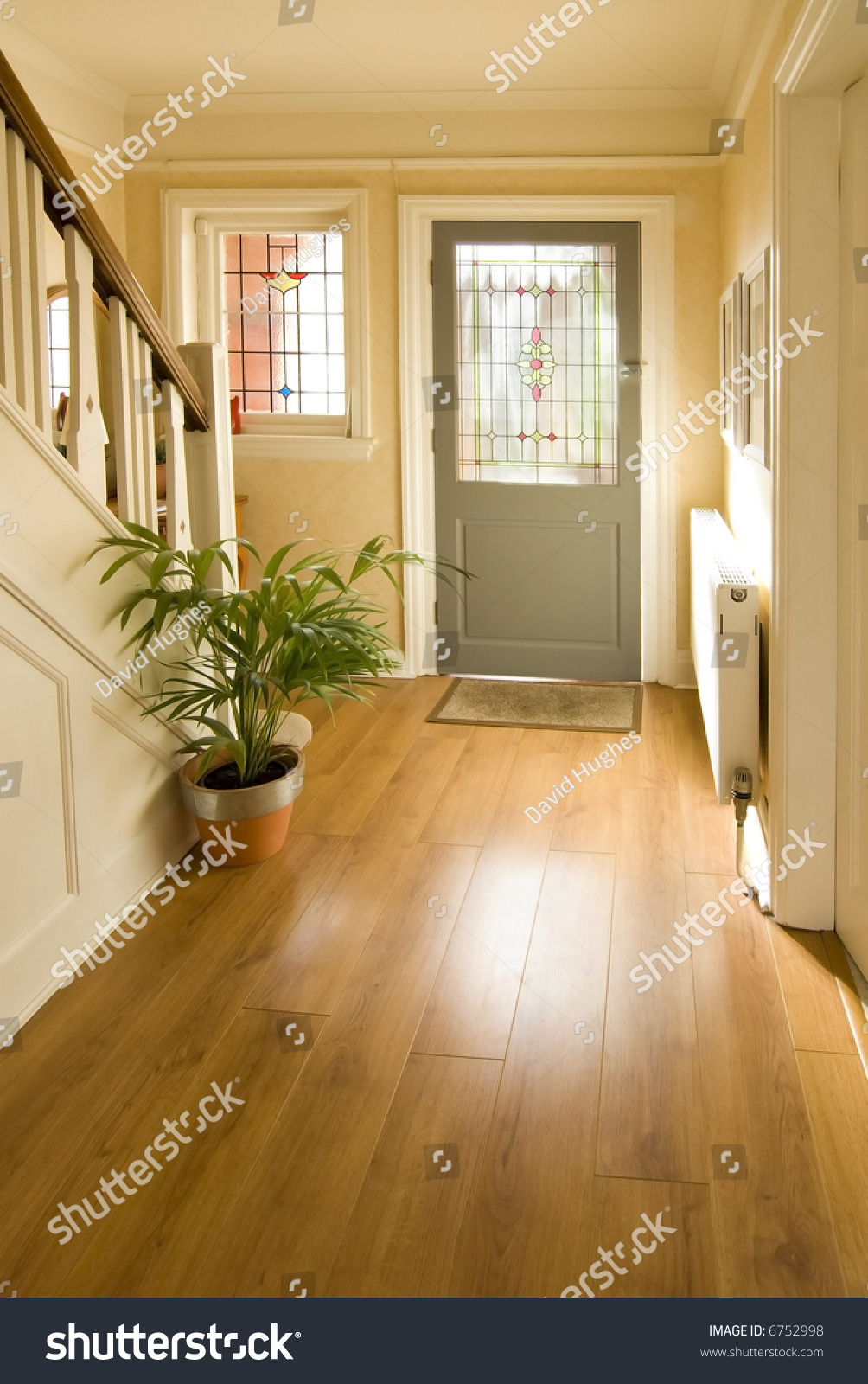 Hallway 1920s House Interior House Stock Photo 6752998