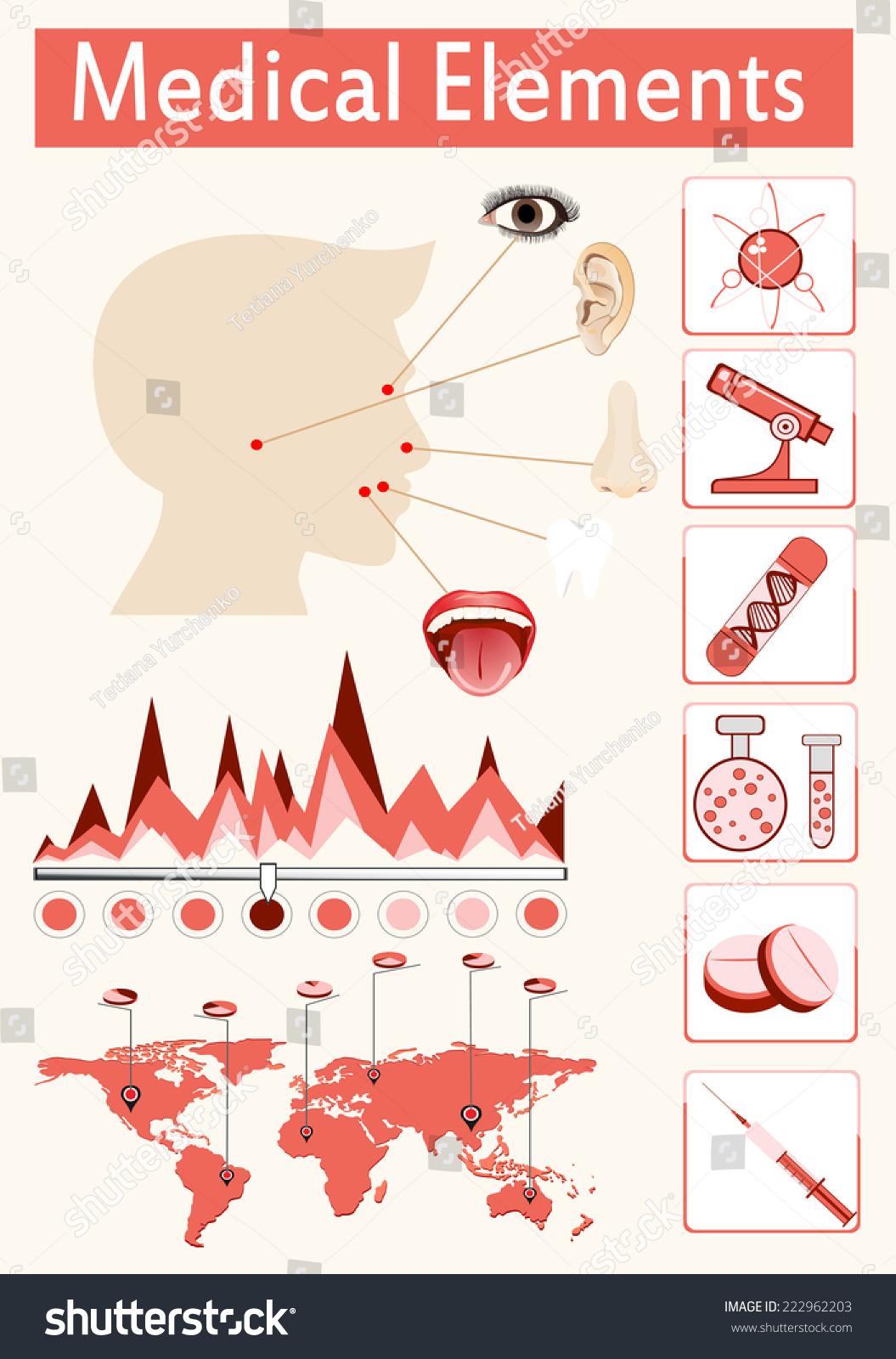 Head Otolaryngology System Medical Infographic Infochart