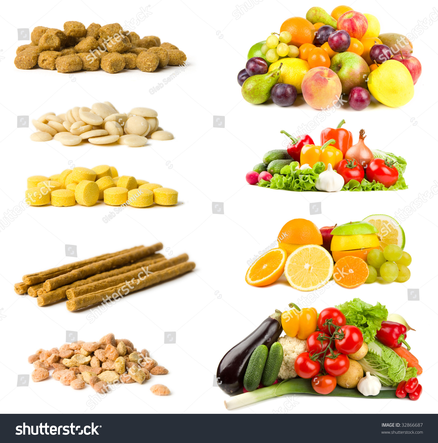 Healthy And Unhealthy Foods Selections Isolated On White Stock Photo Shutterstock