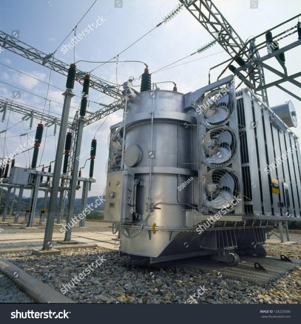 High-Voltage Power Transformer Stock Photo 128225006 ...