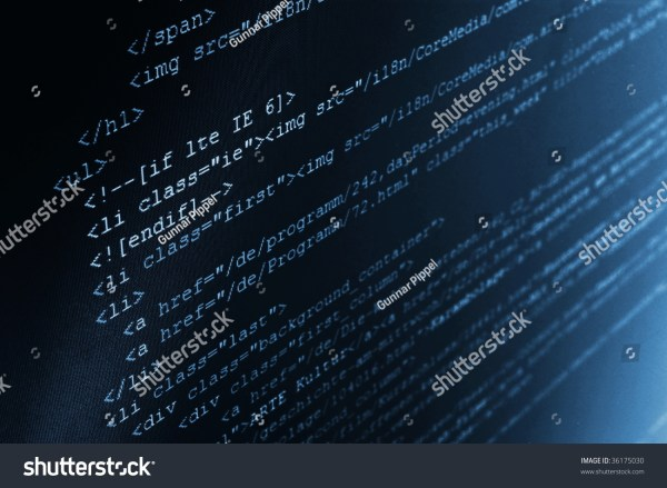 Html Computer Code Background Showing Concept For The Internet Stock Photo 36175030