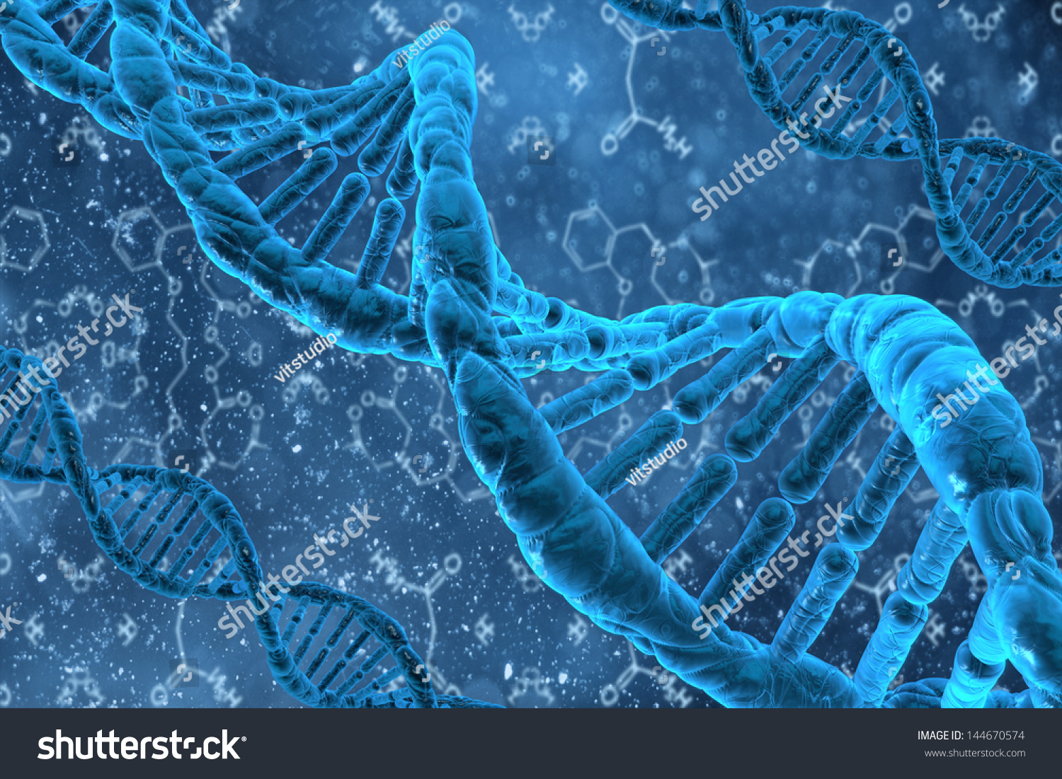 Human Dna Structure Of The Cell Stock Photo