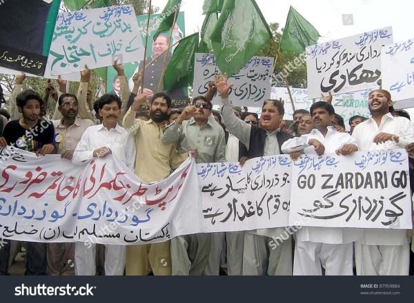 Hyderabad, Pakistan - Nov 02: Supporters Of Muslim League ...