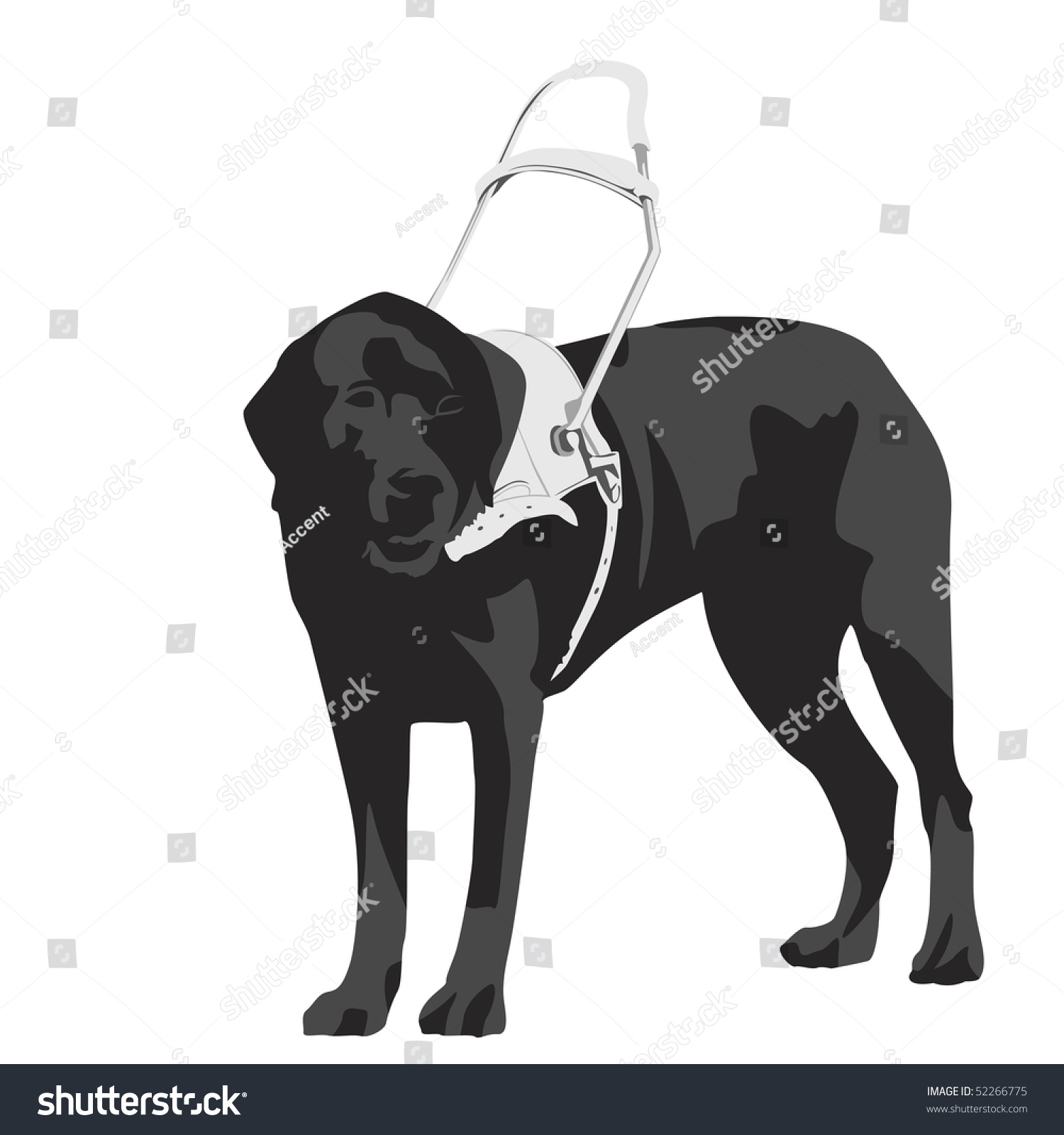 Illustration Of Seeing Eye Dog