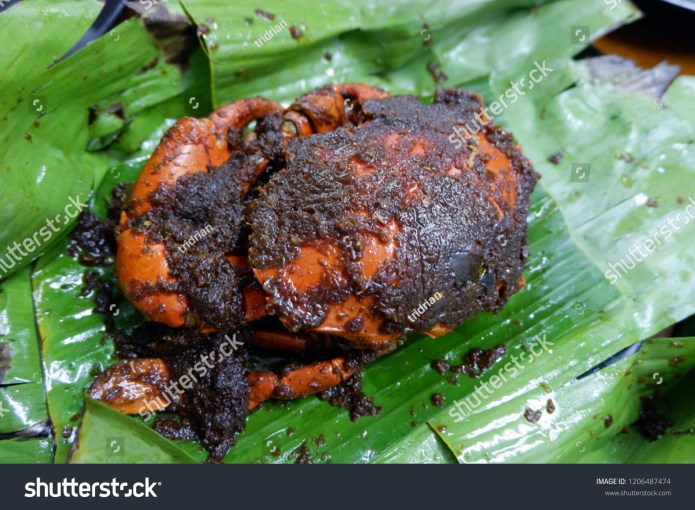 Indonesian Food Called Kepiting Asap Smoked Stock Photo Edit Now 1206487474