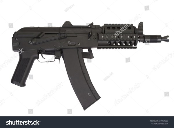 Kalashnikov Ak47 Short Modern Update Isolated Stock Photo ...