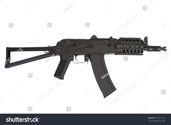 Kalashnikov Ak47 Shorty Modern Update Isolated Stock Photo ...