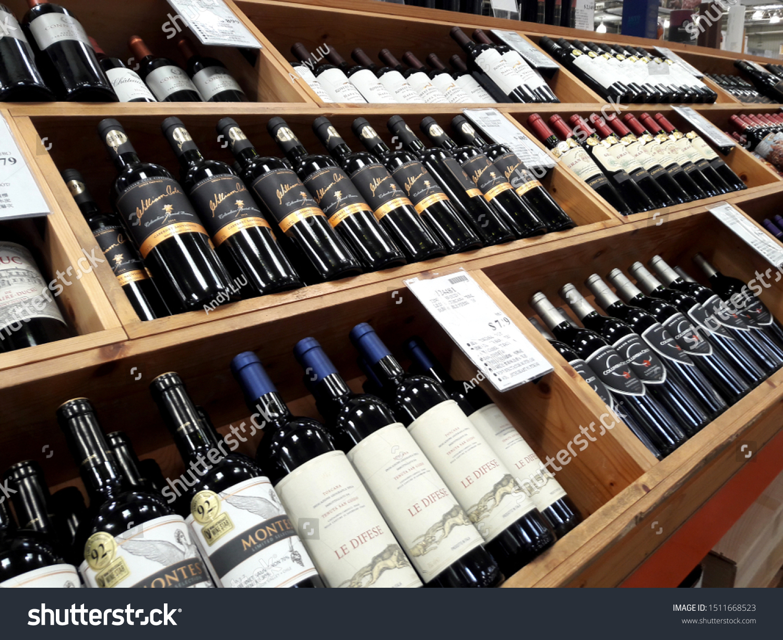 https www shutterstock com image photo kaohsiung taiwan 081819angled shelves popular wine 1511668523