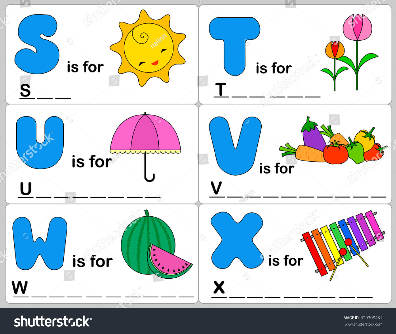 Kids Words Learning Game Worksheets With Simple Colorful