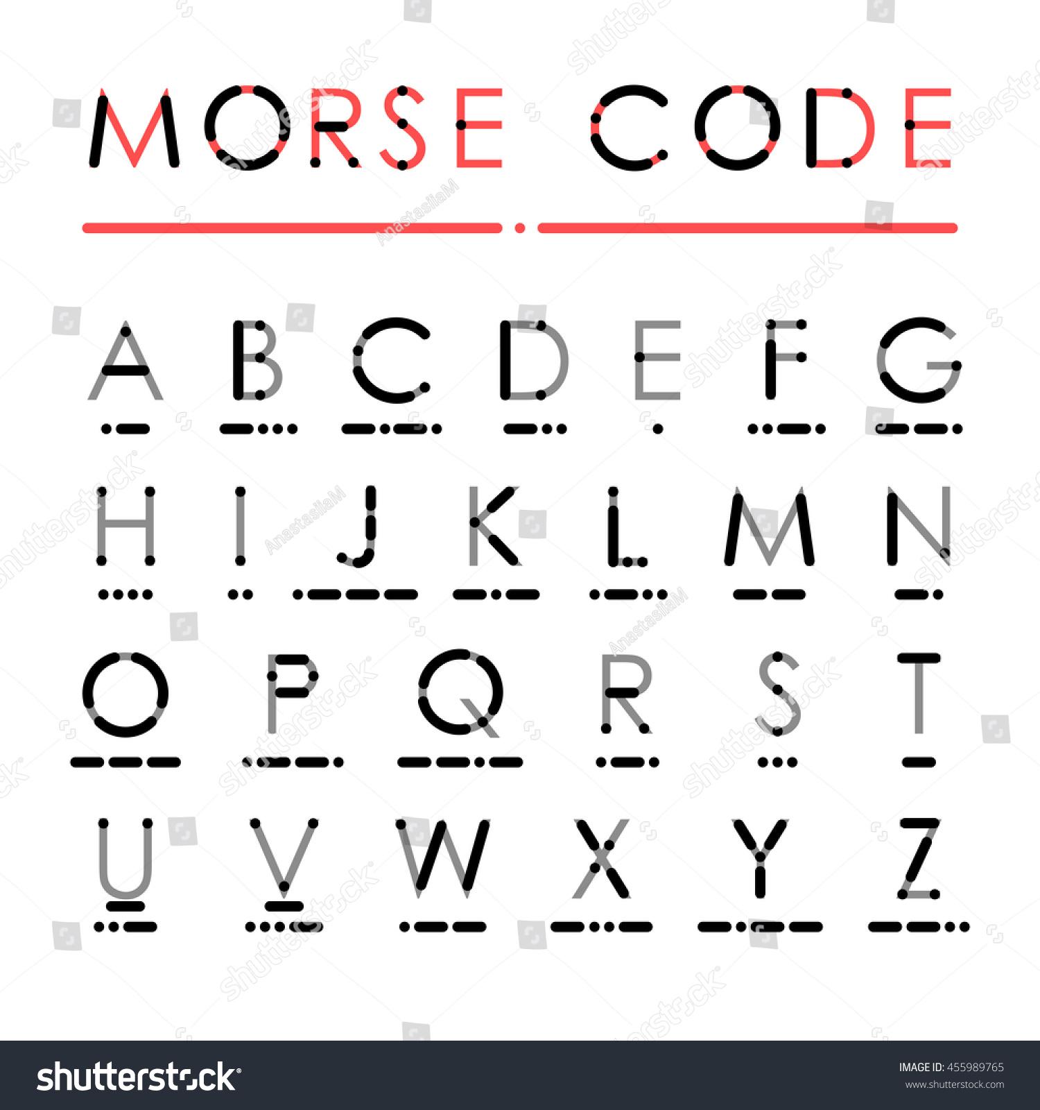 Latin Alphabet In International Morse Code Visual