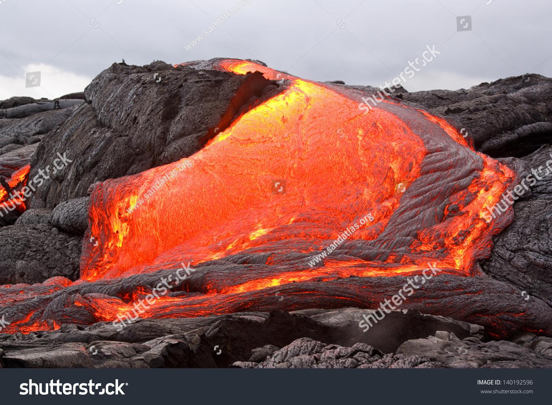 Lava Flow In Hawaii Stock Photo 140192596 : Shutterstock
