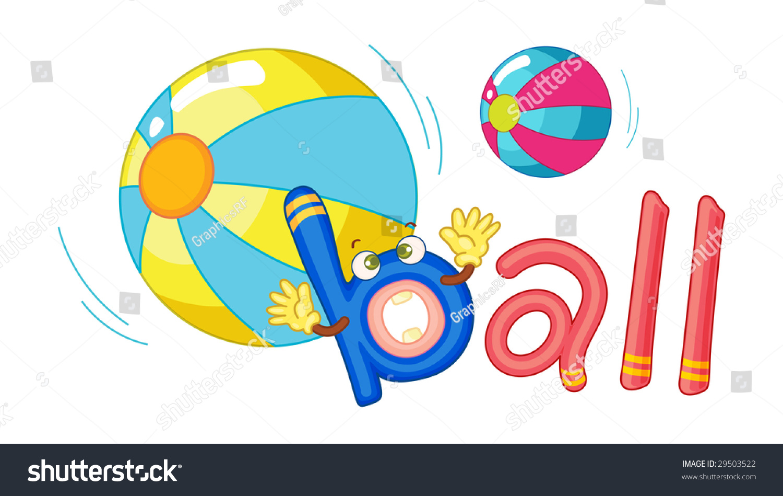Letter B Ball Stock Illustration