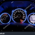 Luxury Car Dashboard Blue Light Close Stock Photo Edit Now 768376852