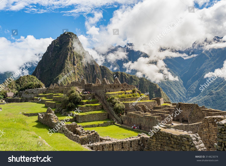 Machu Picchu New 7 Wonder Of The Word Cusco Peru Stock