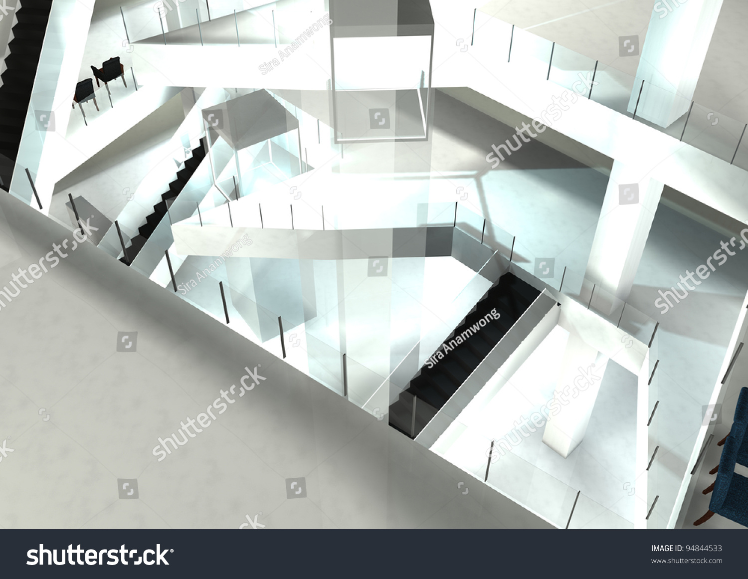 Mall Interior Designillustrated 3 D Render Show Stock Illustration     Mall interior design illustrated 3d render show open well