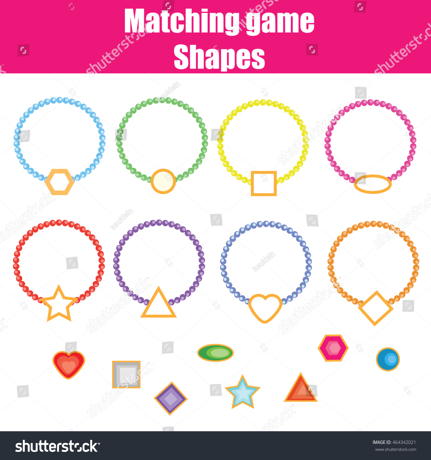 Matching Shapes Worksheet Chritmas
