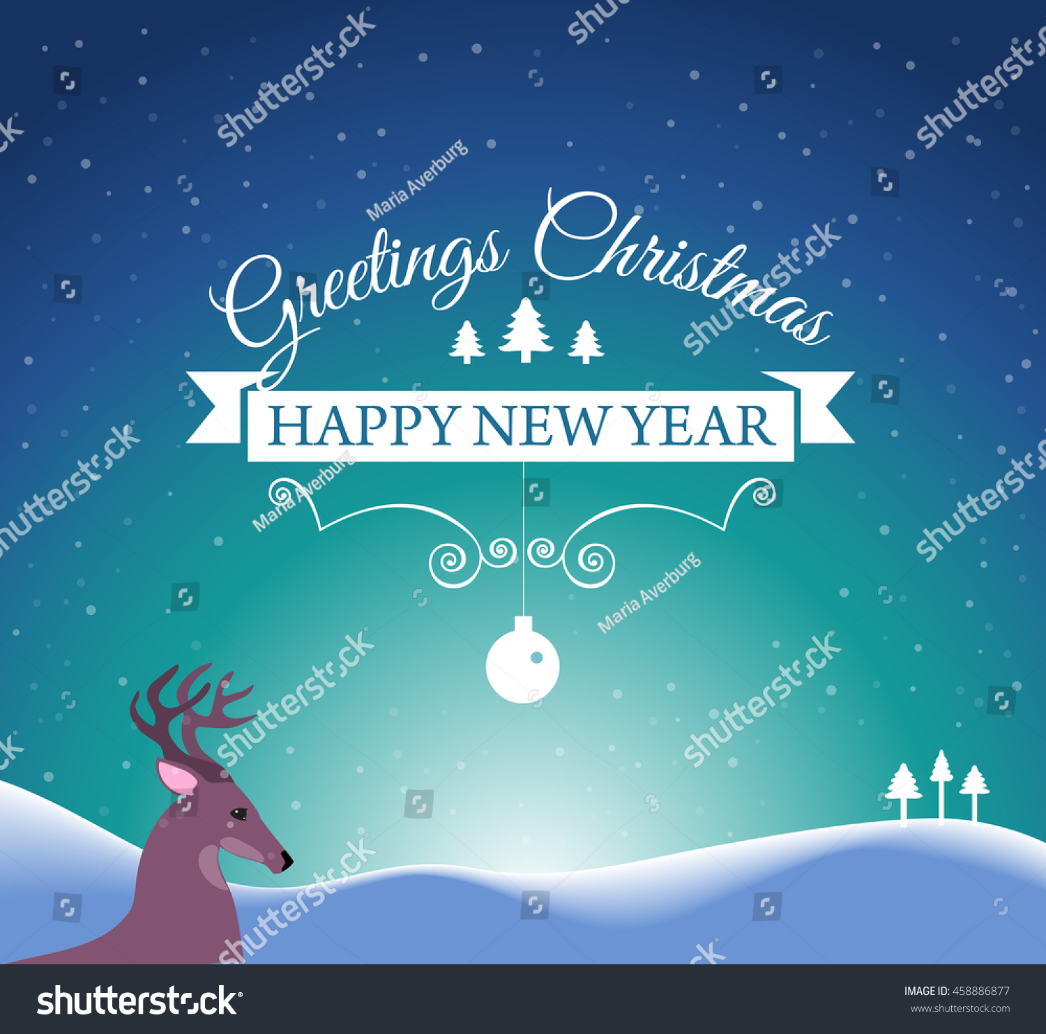 Merry Christmas Happy New Year Post Stock Illustration 458886877     Merry Christmas and Happy New Year post Card with designed text