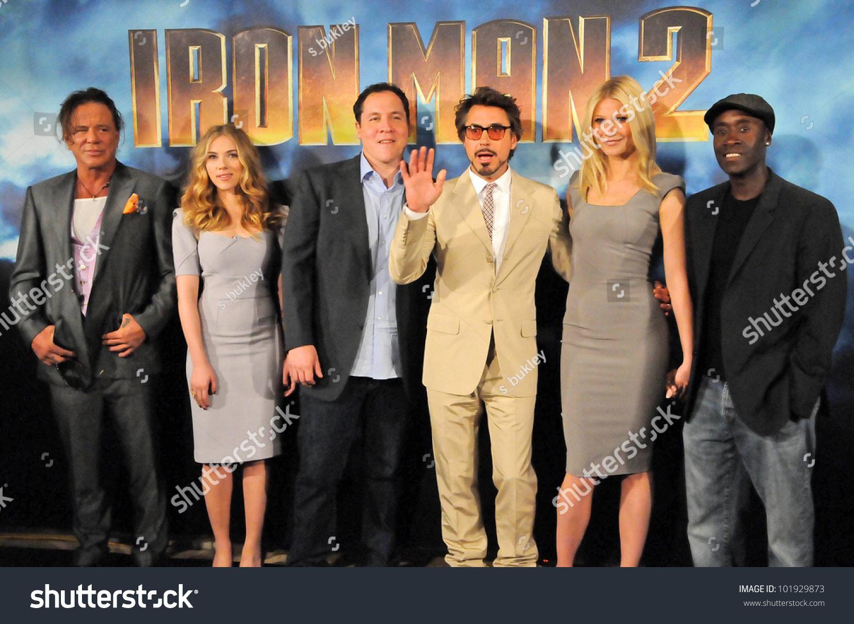 Mickey Rourke Jon Favreau Scarlett Johansson Robert