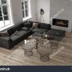 Minimalist Decor Modern Living Room Large Royalty Free
