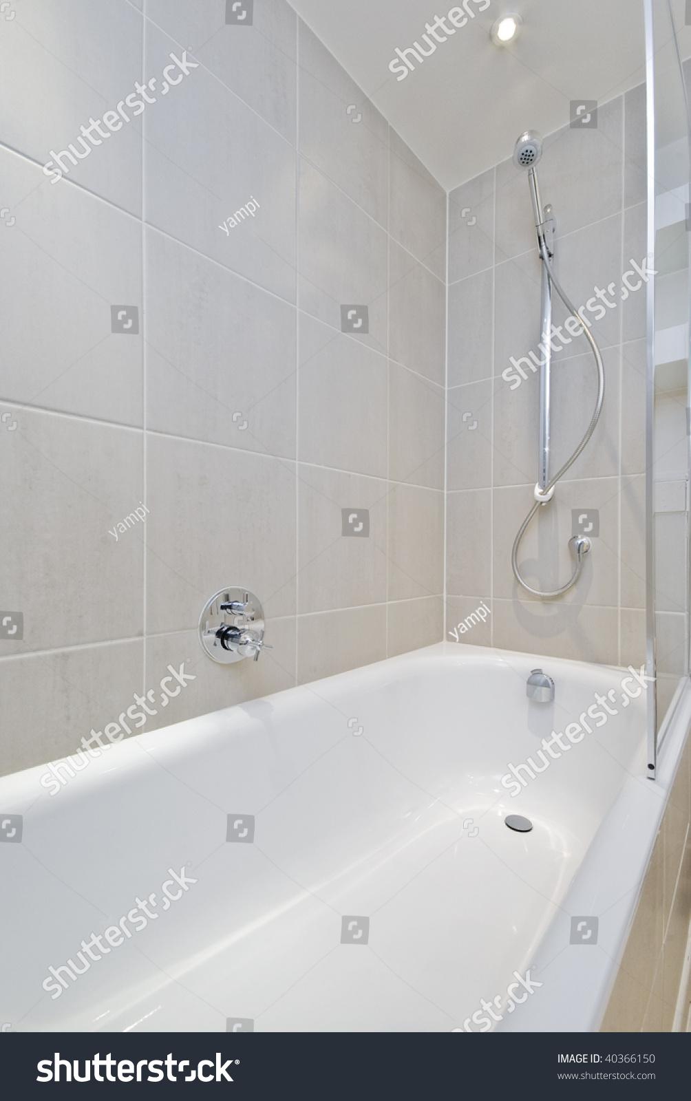 https www shutterstock com image photo modern ceramic bath tub shower attachment 40366150