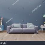 Modern Living Room Interior Sofa Green Stock Illustration