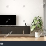 Modern White Gray Minimalist Living Room Stock Illustration
