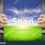 Motivational Quotes Coming Soon Hands Opening Stock Photo Edit Now 252680437