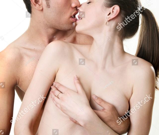 Nude Girl And Guy Kiss