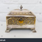 Old Vintage Silver Plate Jewelry Box Stock Photo Edit Now 1175340250