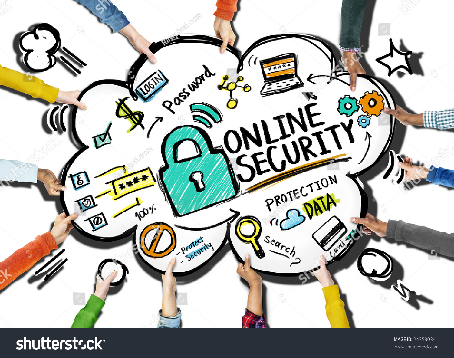 Online Security Protection Internet Safety Support Stock