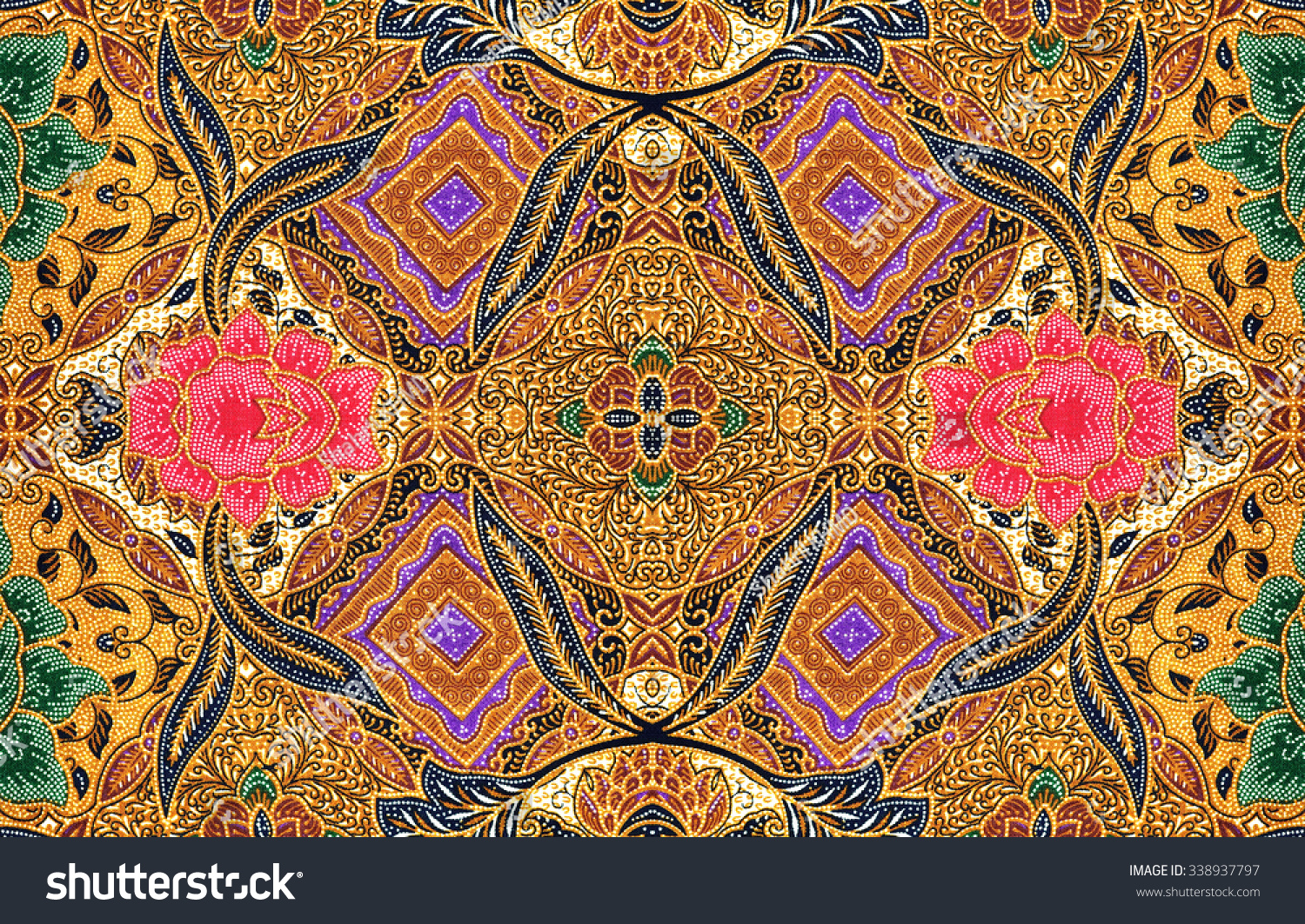 Pattern Traditional Clothes Malaysia Include Batik Stock Photo 338937797 Shutterstock