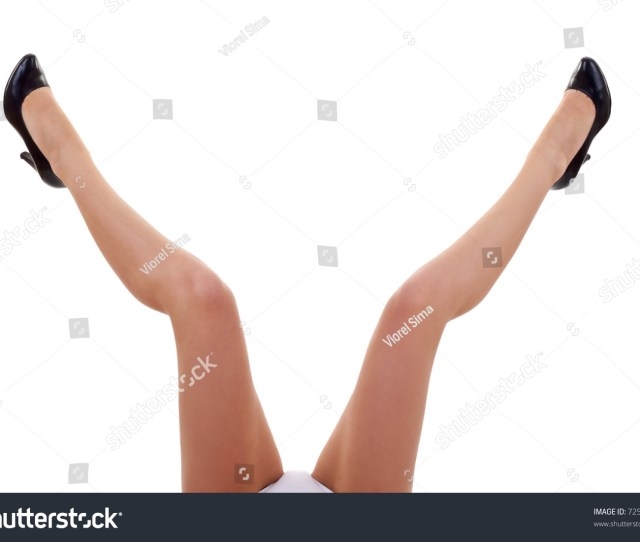 Picture Of A Womans Open Legs Over White