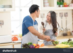 Couple Cooking Together Stock Image Image Of Kitchen  Auto Electrical Wiring Diagram