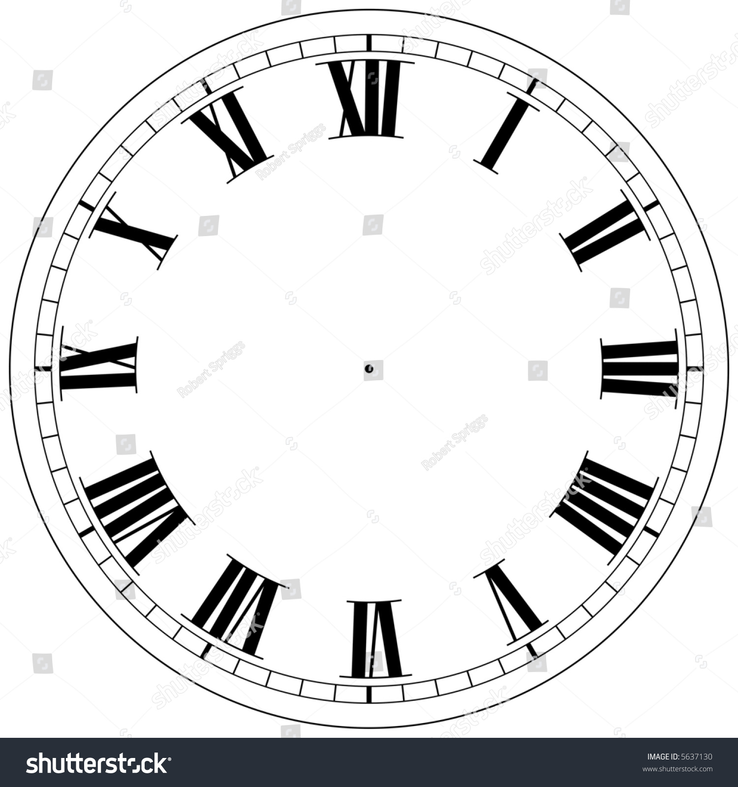 Precision Roman Clock Face Template Stock Photo Shutterstock