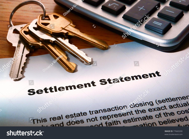 Real Estate Home Seller Settlement Statement Realtor