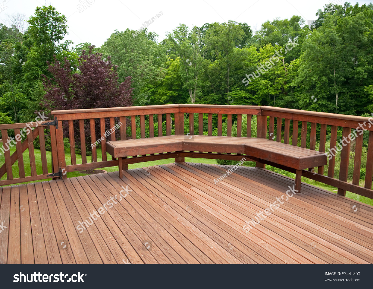 Redwood Stained Deck Boards Bench Seat Stock Photo Edit Now 53441800