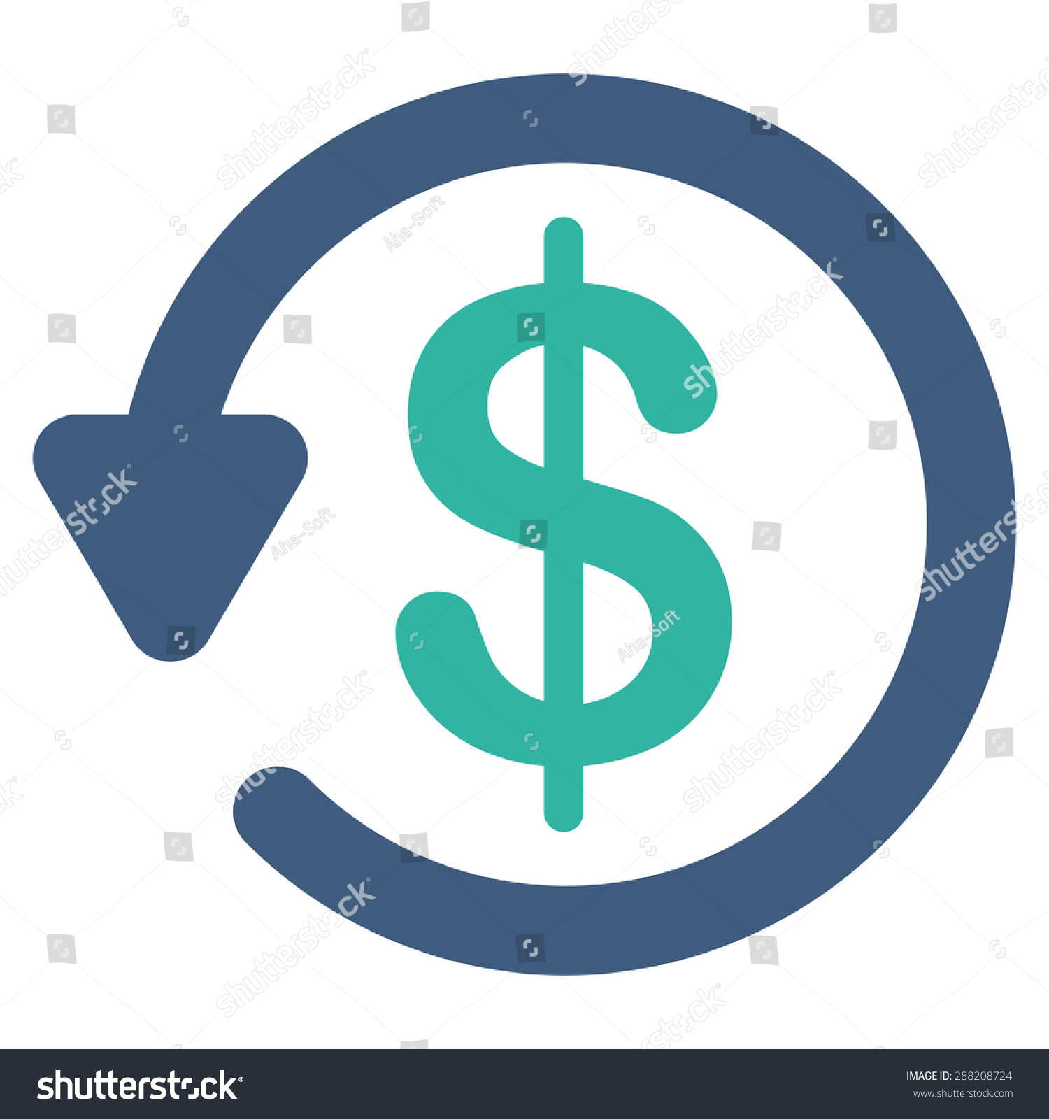 Refund Icon Business Bicolor Set This Stock Illustration 288208724 - Shutterstock