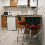 Renewed Small Kitchen Counter High Chairs Stock Photo Edit Now 304406201