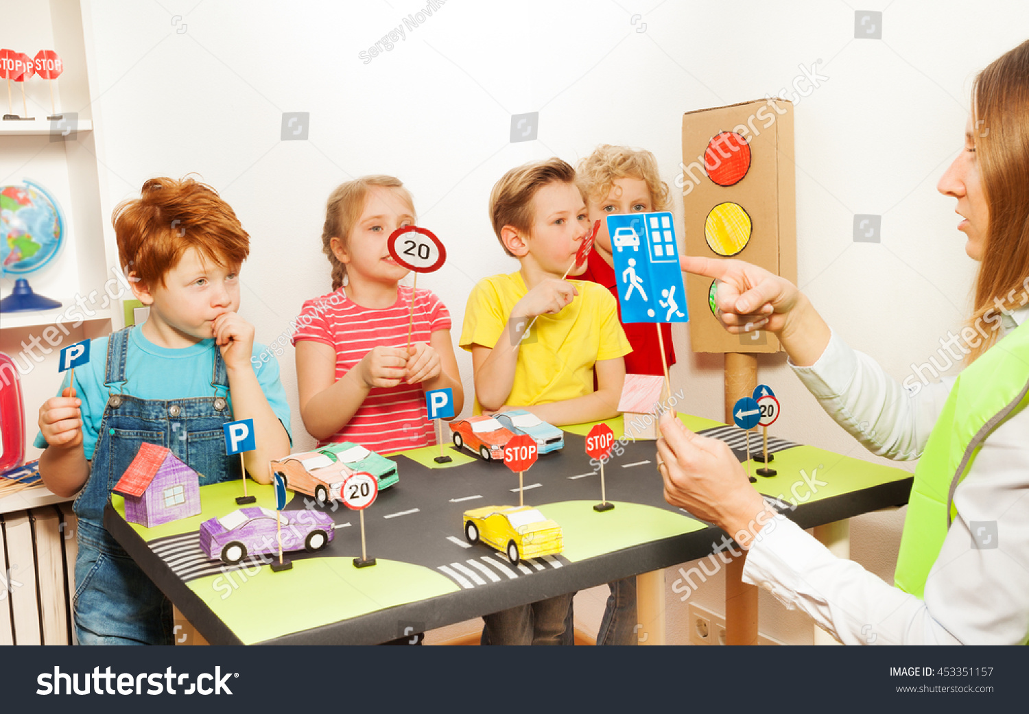 Road Safety Lesson Kindergarten Stock Photo