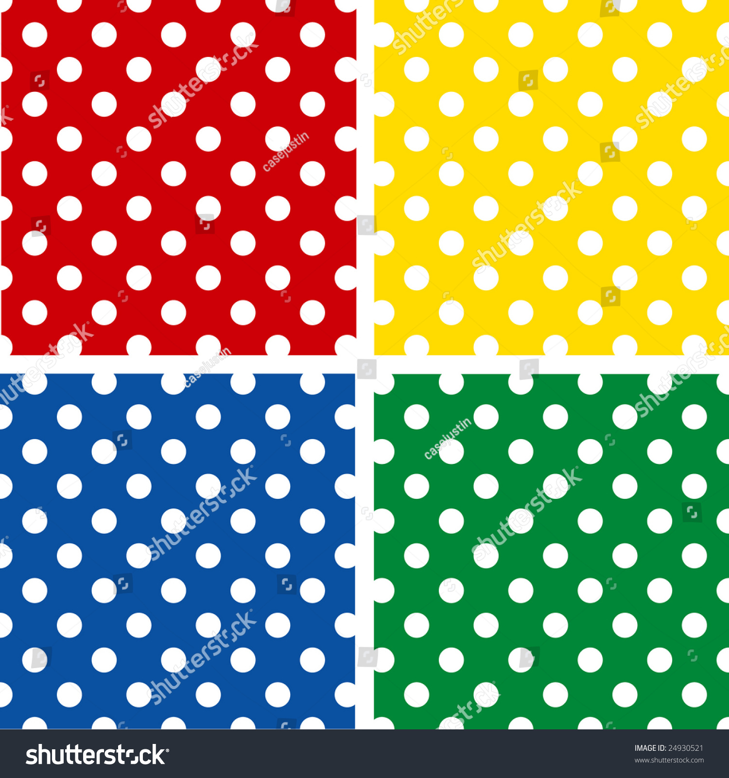 Seamless Pattern Tiles Large White Polka Dots On Red