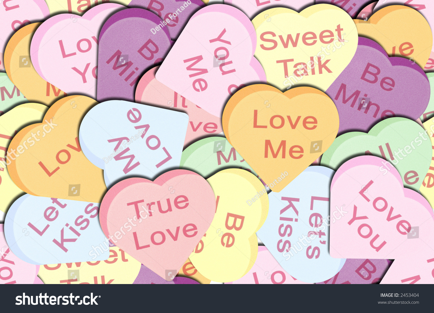 Seamless Repeating Valentine Candy Heart Background Or