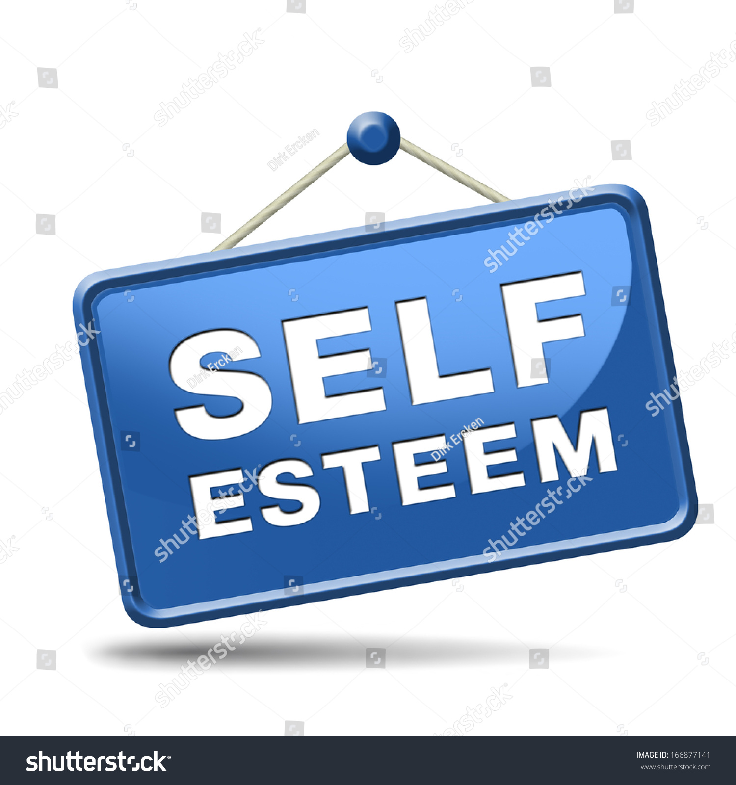 Self Esteem Regard Or Respect Confidence And Pride Psychology Stock Photo 166877141 : Shutterstock
