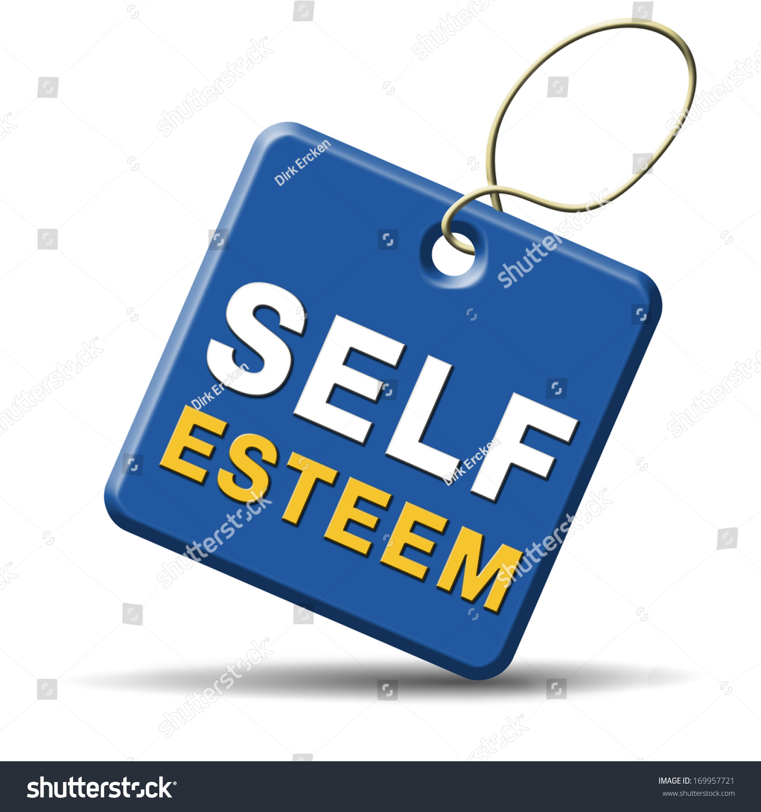 Self Esteem Regard Or Respect Confidence And Pride Psychology Stock Photo 169957721 : Shutterstock