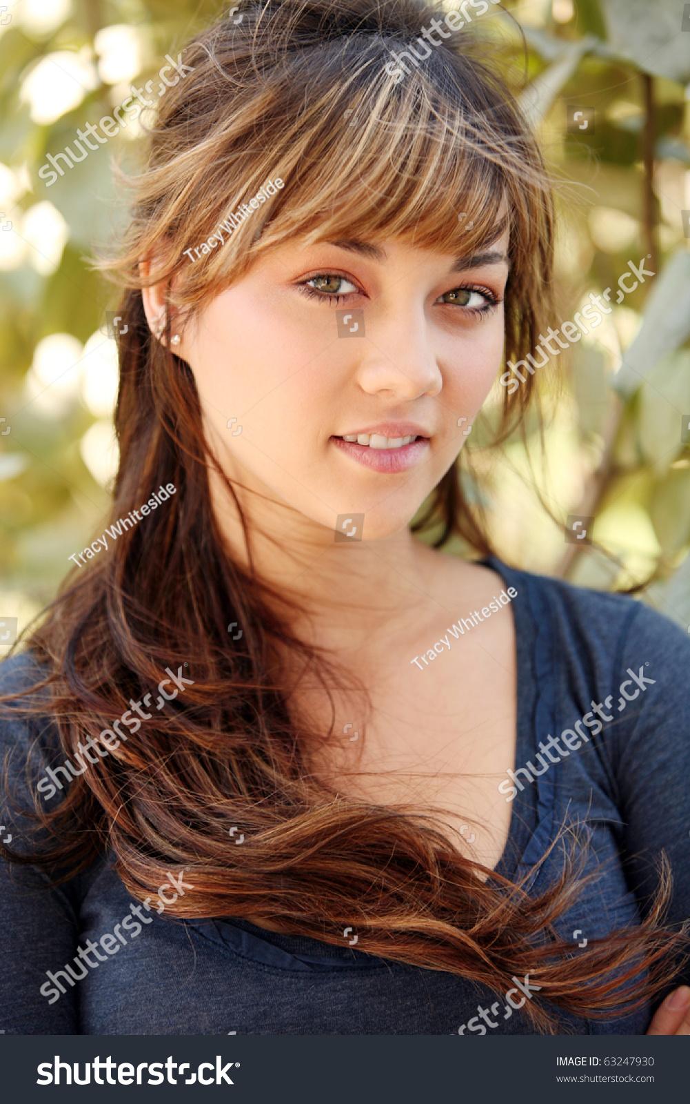 Shot Beautiful Teen Girl Big Eyes Stock Photo 63247930 ... on Beautiful Teen Girl  id=62419