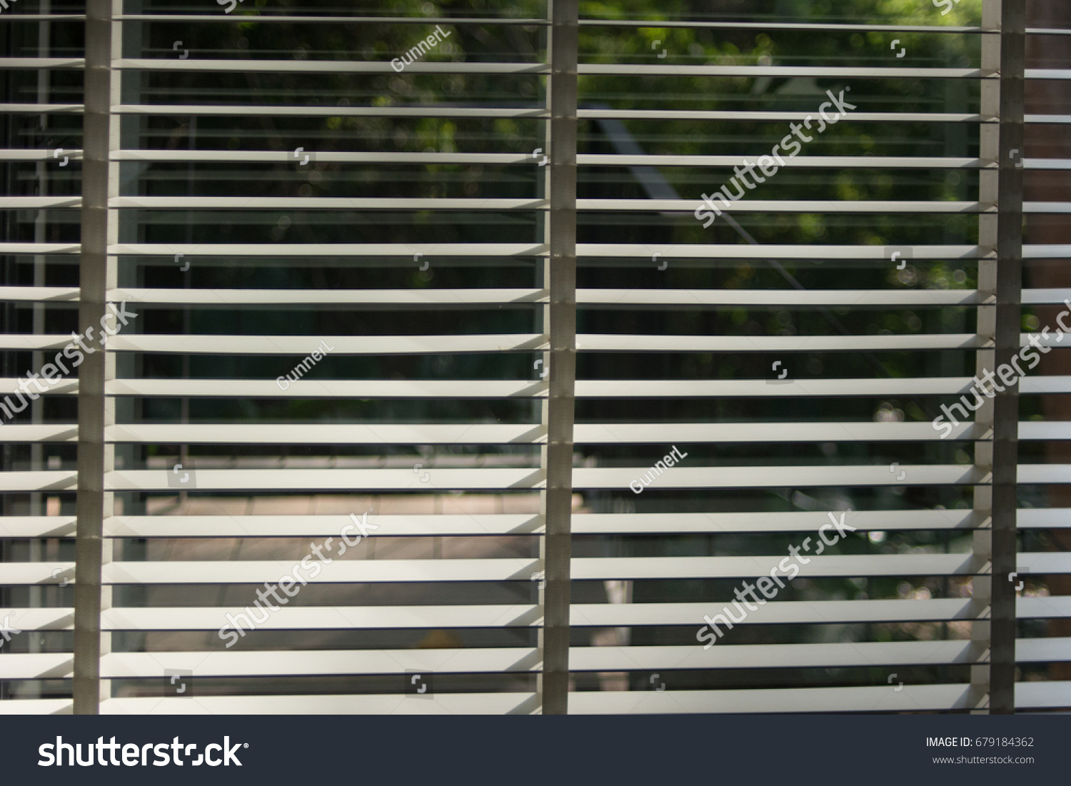 Shutters Jalousie Louvers Wooden Blinds Backlight Stock
