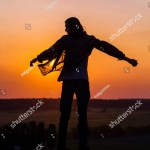 Silhouette Young Longhair Male Model Opened Stock Photo Edit Now 302158136