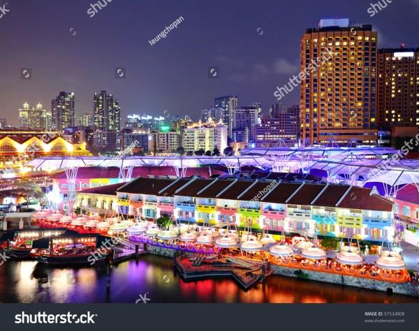 Singapore City Night Stock Photo 97534808 - Shutterstock