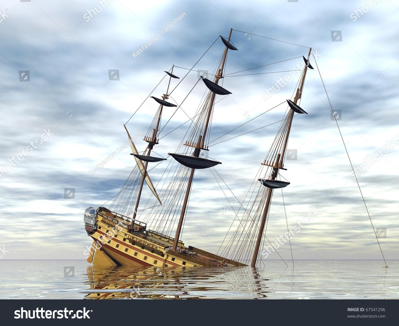 Sinking Ship In The Sea Stock Photo Shutterstock