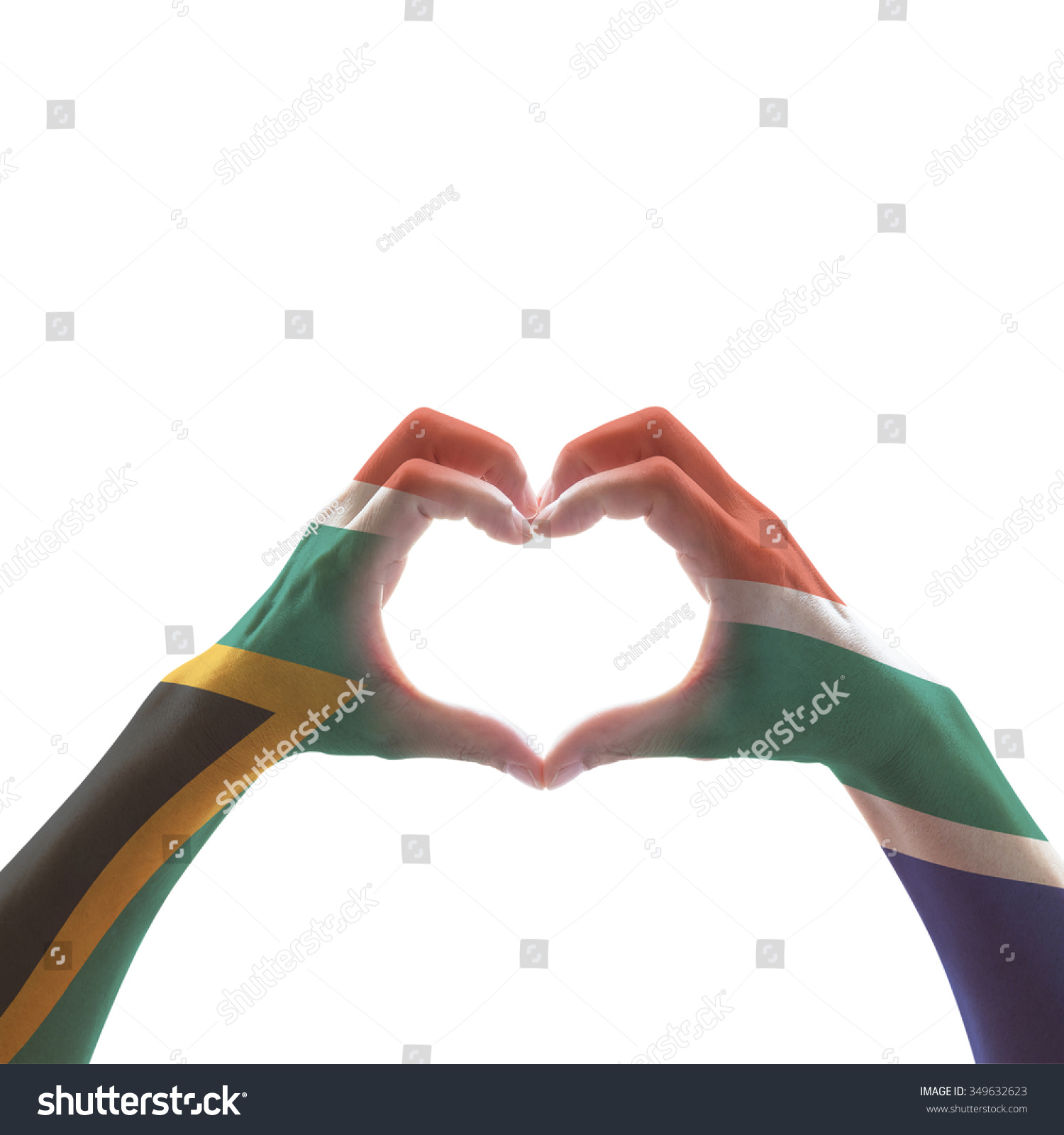 South Africa Flag Color Pattern On Stock Photo