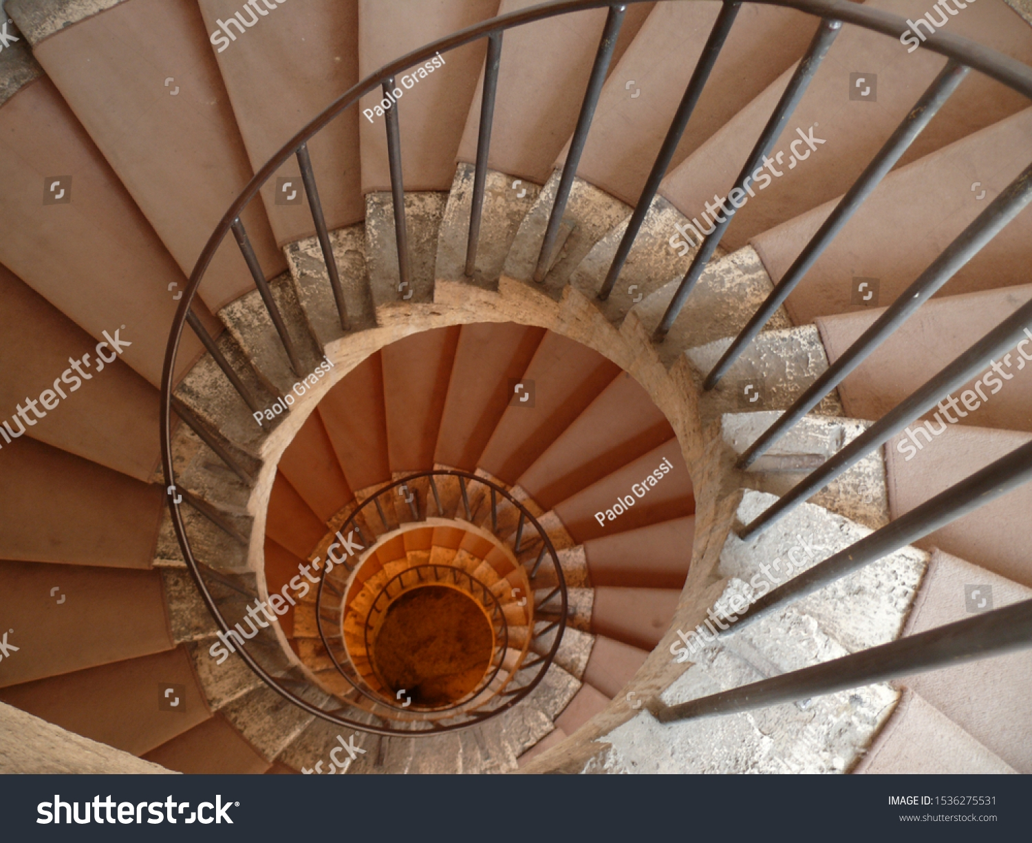Spiral Spiral Staircase White Marble Steps Vintage Stock Image | Spiral Staircase Carpet Runners | Staircase Ideas | Staircase Railings | Stair Case | Beige Carpet | Sisal Stair